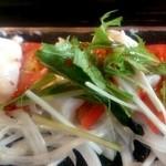 19489147 - ジーマミ豆腐とトマトのカルパッチョ。