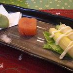 1949756 - 一寸豆、鱈子山葵漬、ホワイトアスパラ。