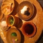 龍吟 - 最高に新鮮なお刺身、イカは塩で食べる