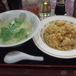 19494107 - 台湾チャーハン+ワンタンスープ 750円