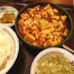 味仙 - ランチ。麻婆豆腐。