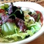 キッチンハウス殿様 - セットのサラダ(梅ドレッシング)