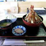 ごはん処 茶茶 - 天丼セット(800円)
