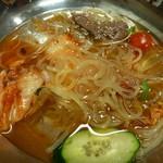 ゆずや - 2013.03 冷麺 @780 少し食べかけ・・・・