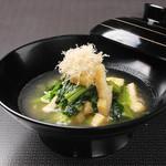 広島菜の京あげ煮
