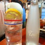 焼き鳥 若竹 - 1杯目のレモンサワー。