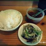 ぎょらん亭 - 2013.6 ごはんはランチタイムで50円。味噌が美味い!惣菜は無料と嬉しいサービス!