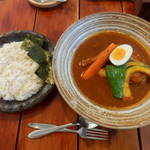 19512989 - 知床地鶏のスープカレー1400円