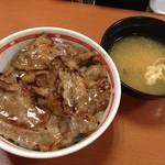 東京チカラめし - 焼き牛丼には味噌汁がつきます