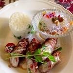 アリスの茶屋 - 人参とツナのサラダ* 彩り野菜の肉巻き