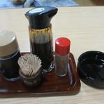 やま美 - 卓上調味料と灰皿