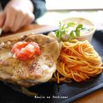 パスタマンジャーレ - 若鶏のステーキマンジャーレ風
