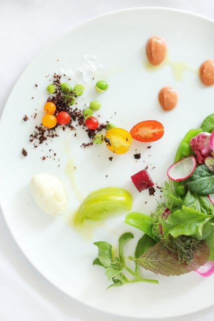 薬院 なかがわ - 季節野菜のサラダ