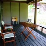 里山カフェ - テラス席