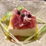 和魂 - 呉豆腐の生ハムトマト