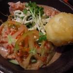鶏焼将軍 - うどんサラダ 680円
