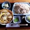 庵 - 料理写真:そば定食(かつ丼)
