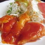 モン・クレール - 本日のランチ。魚のチリソース煮