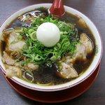 新福菜館 - 中華そば並(煮卵(無料)のせ)