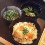 kanazawasekitei - 1900円ランチ・鰻とイクラのちらし、蕎麦、お吸い物