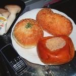 おひげのぱんやさん - あんぱん・焼きカレーパン・ビーフカレーパン