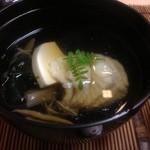 かず味家 - アイナメとじゅん菜と筍のお吸い物