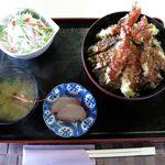 ごはん処 茶茶 - 天丼セットのアップ