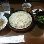 すが田 - 稲庭肉汁うどんランチセット(780円)