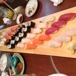 19545515 - 波奈の海 寿司39貫+巻物2本 4500円