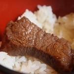 レストラン 大公 - 石焼すてーき定食(ひれ) オンザライス