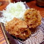 とんかつ和幸 - 夏野菜カレーコロッケ(¥200)ピリ辛で、ビールによく合う