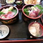 お食事処 名代亭 - おらがX丼1300円