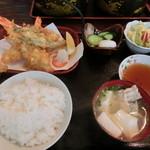 お食事処 名代亭 - 天ぷら定食1200円