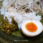 陶之助+ - 味付け卵、漬物