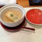 19551176 - 空豆しんじょうの山葵あんかけ