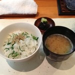 19551186 - しじみの味噌汁&おかひじきの御飯