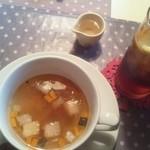 19551230 - スープとアイスティー