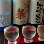 19551858 - 2013.6.16 ひとまず店長おすすめの利き酒セット