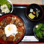 うなぎの又一 - うな肝丼1,200円(税抜)