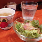 黒毛七厘 - サラダ・スープ