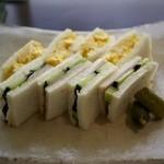 遊形 サロン・ド・テ - タマゴとハムのサンドイッチ