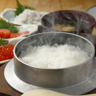 特選米】炊きたての釜焚き銀しゃりごはん