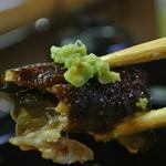 福也 - 山椒でなく生ワサビを摩り下ろして頂くスタイル