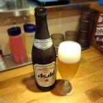 油そば専門店 山ト天 - 瓶ビール480円
