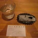 珈琲 紙 - お水&お手拭