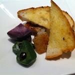 19564348 - パンと焼き野菜