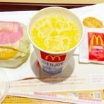 マクドナルド - ソーセージエッグマフィン&ハッシュポテト&オレンジジュース