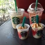 スターバックスコーヒー - 2013/06 季節のおすすめのデザート ストロベリーチーズケーキフラペチーノ® -ICED-のサンプルを配布していました