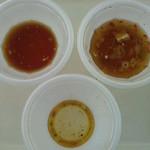 新旬屋 麺 - 3食~スープの減り具合がなんとなく結果を物語る…