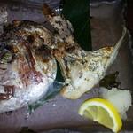謳歌屋 ごん蔵 - 真鯛のカオの塩焼き(半身)